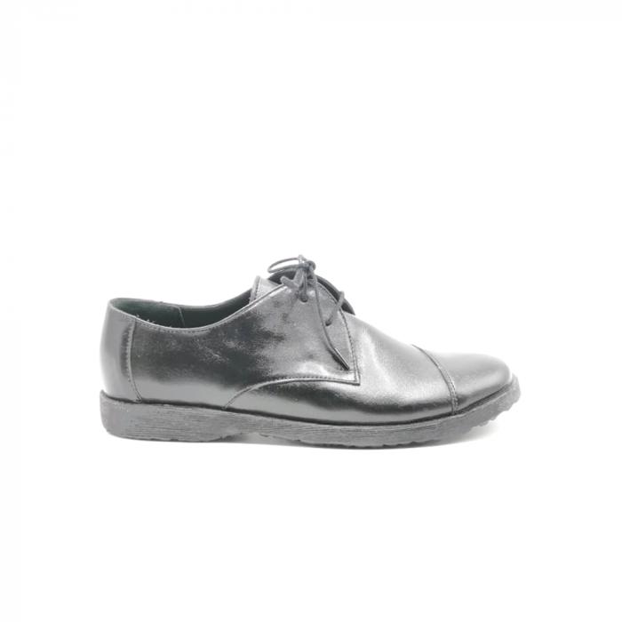 Pantofi din piele Oxford Kika Black, 39 0