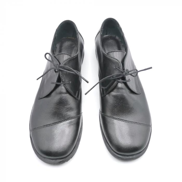 Pantofi din piele Oxford Kika Black, 39 3