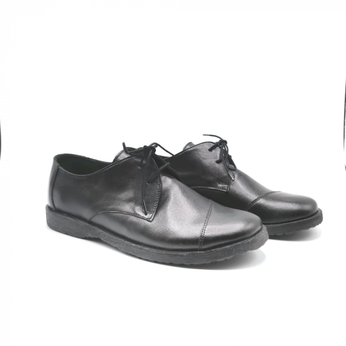 Pantofi din piele Oxford Kika Black, 39 1