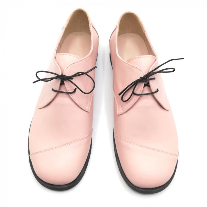 Pantofi din piele Oxford Kika Nude Rose 2