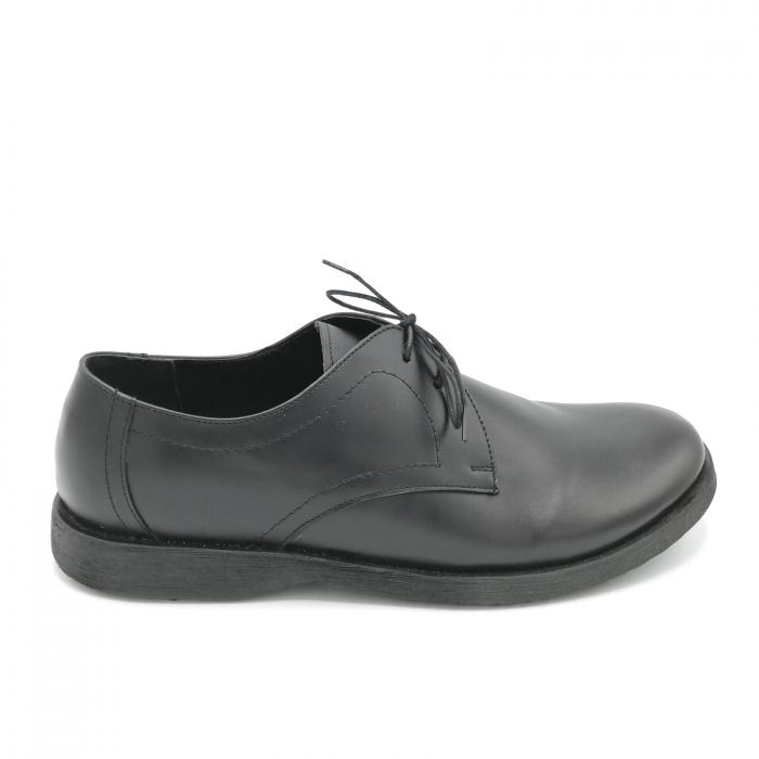 Pantofi din piele Oxford Pax Black 0