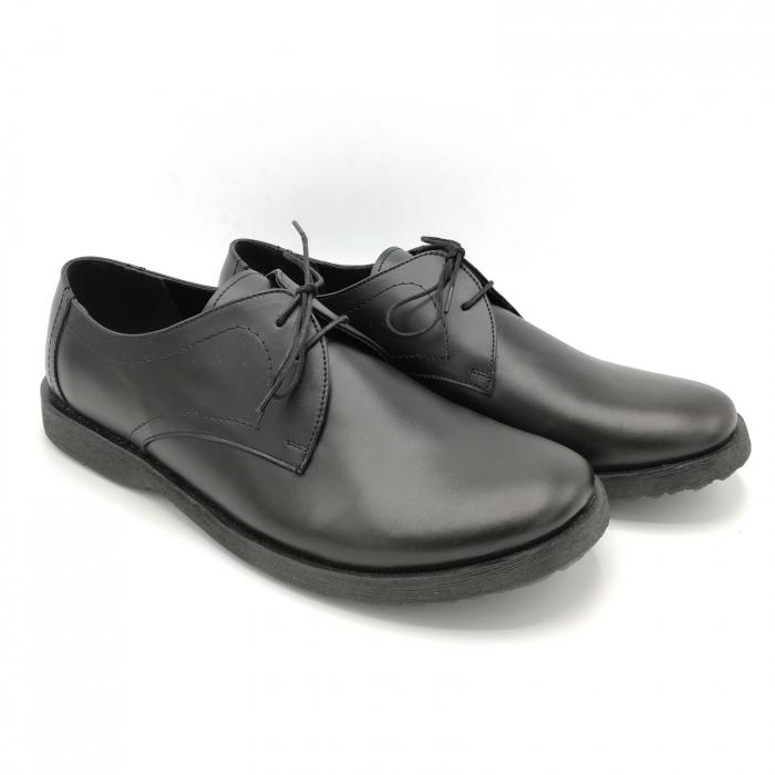 Pantofi din piele Oxford Pax Black 2