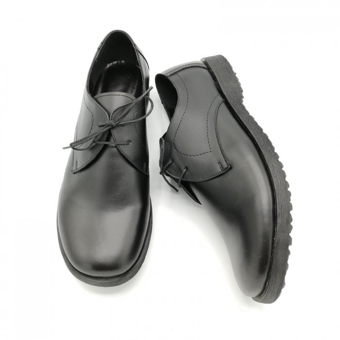 Pantofi din piele Oxford Pax Black 3