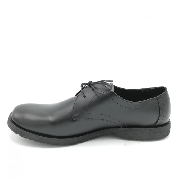 Pantofi din piele Oxford Pax Black 1