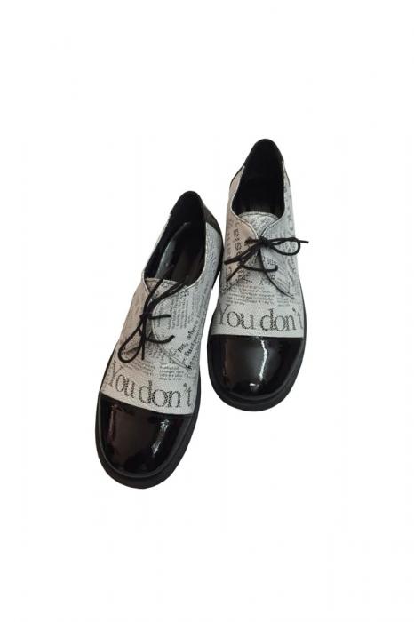 Pantofi din piele Oxford Pam Paper 2