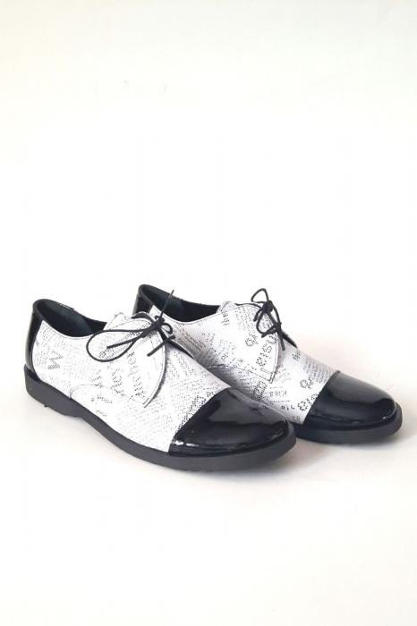 Pantofi din piele Oxford Pam Paper 3