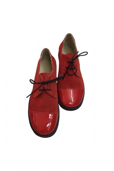 Pantofi din piele Oxford Pam Red 2