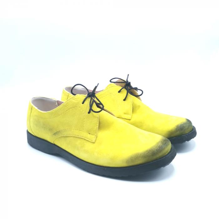 Pantofi din piele Oxford Pax Yellow Vintage, 40 1