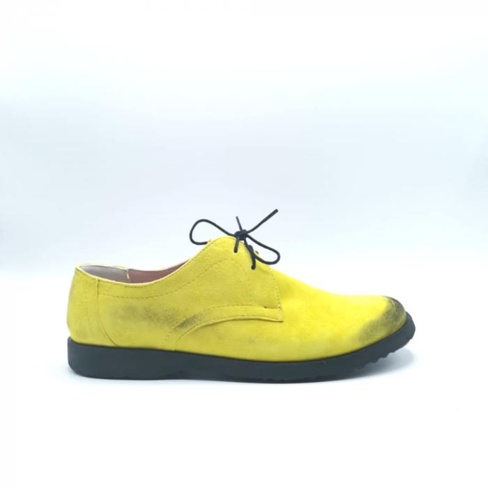 Pantofi din piele Oxford Pax Yellow Vintage, 40 0