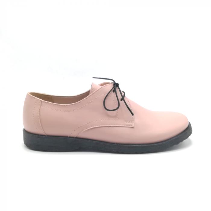 Pantofi din piele Oxford Pax Nude 0
