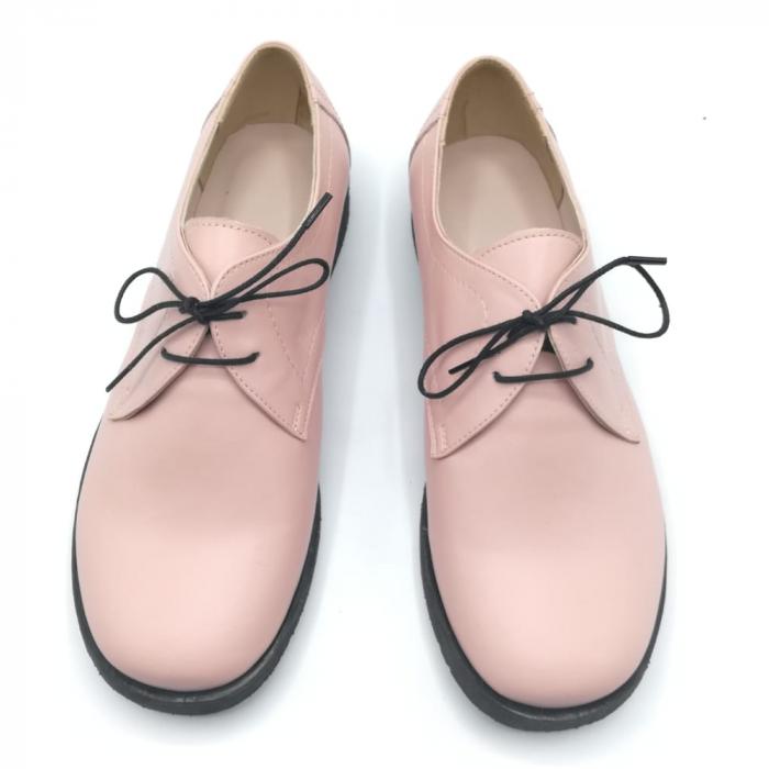 Pantofi din piele Oxford Pax Nude 2