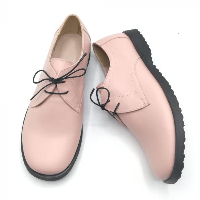 Pantofi din piele Oxford Pax Nude 3