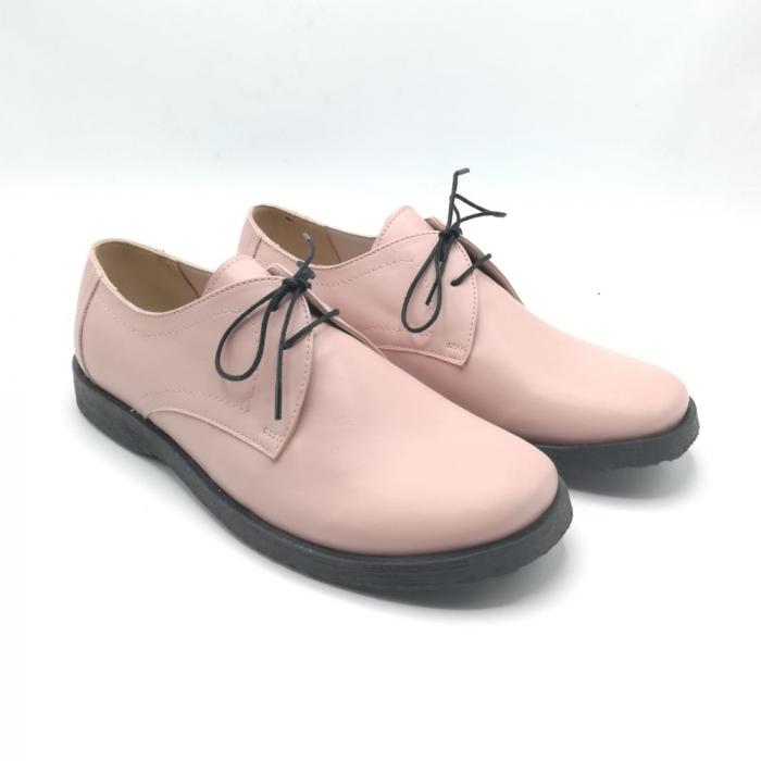 Pantofi din piele Oxford Pax Nude 1