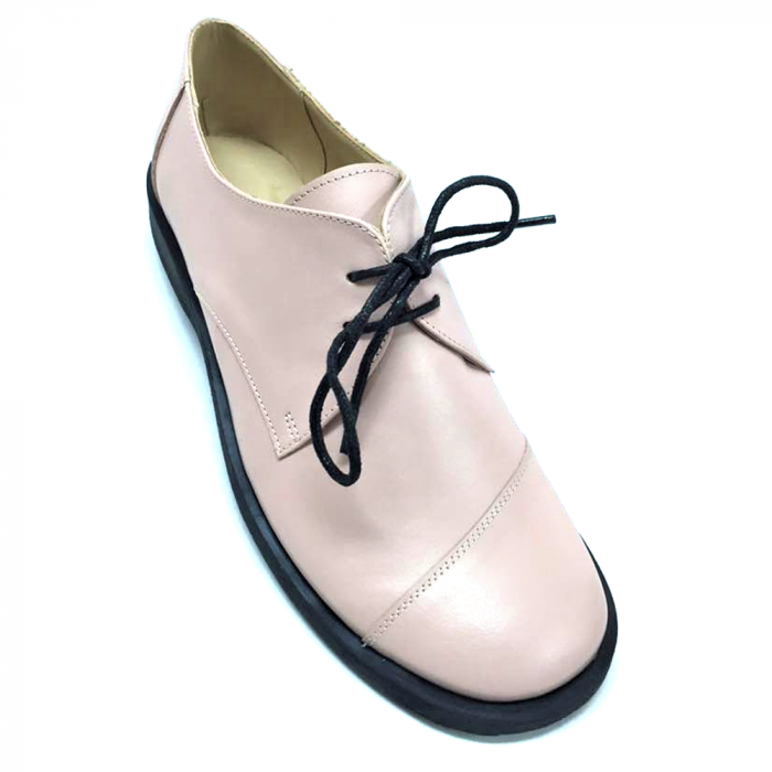 Pantofi din piele Oxford Kika Nude 0