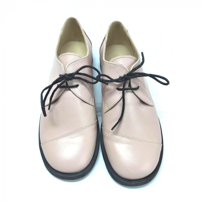 Pantofi din piele Oxford Kika Nude 2