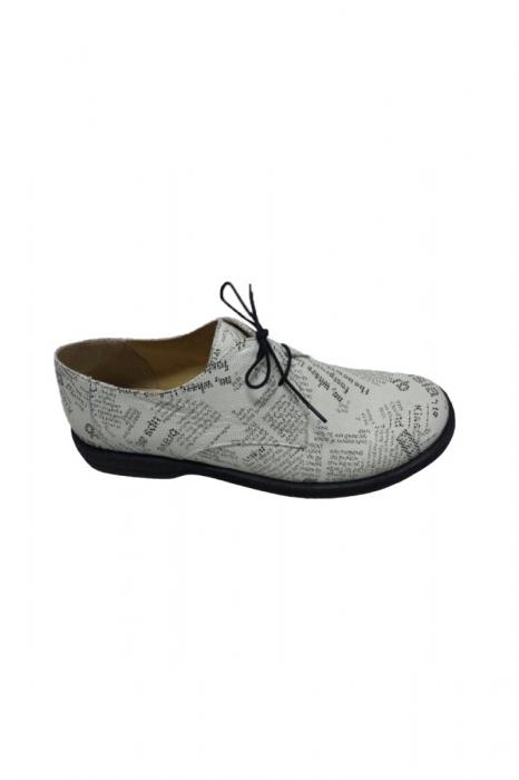 Pantofi din piele pentru femei Oxford Paper 1
