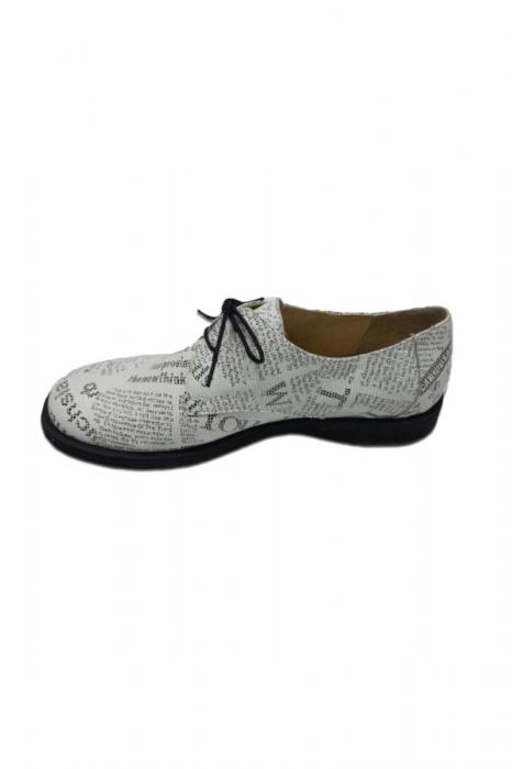 Pantofi din piele pentru femei Oxford Paper 2