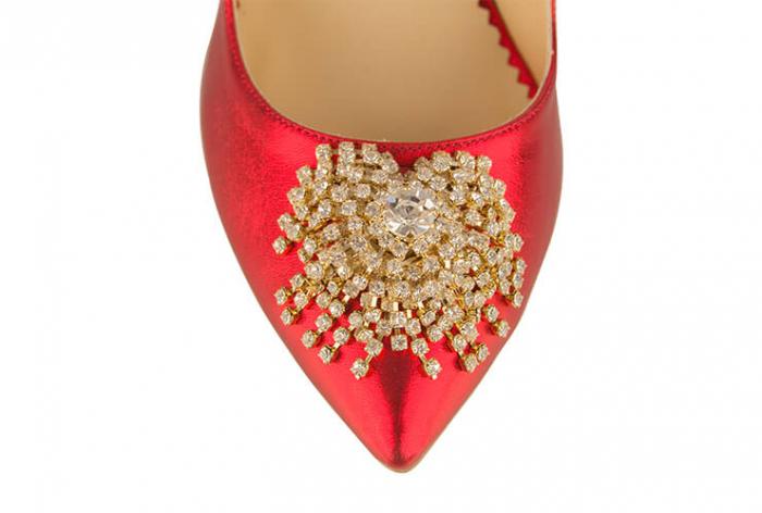 Pantofi Mihai Albu din piele metalizata Ruby Stealth Crystal 3