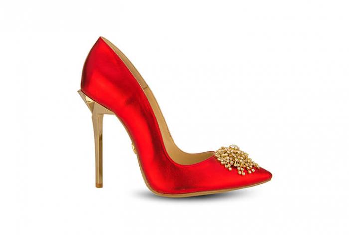 Pantofi Mihai Albu din piele metalizata Ruby Stealth Crystal 0