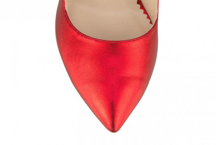 Pantofi Mihai Albu din piele metalizata Rubis Stealth Crystal 3