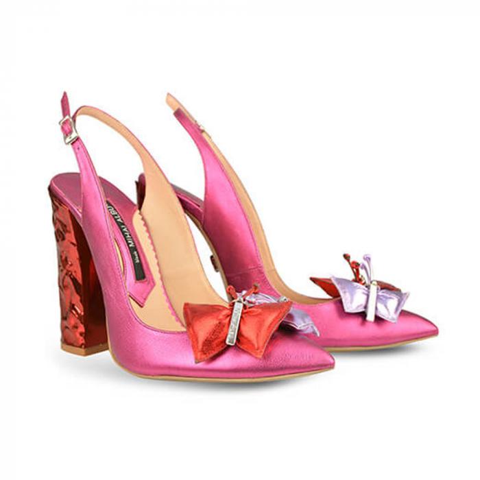 Pantofi Mihai Albu din piele Ruby Butterfly, 39 1