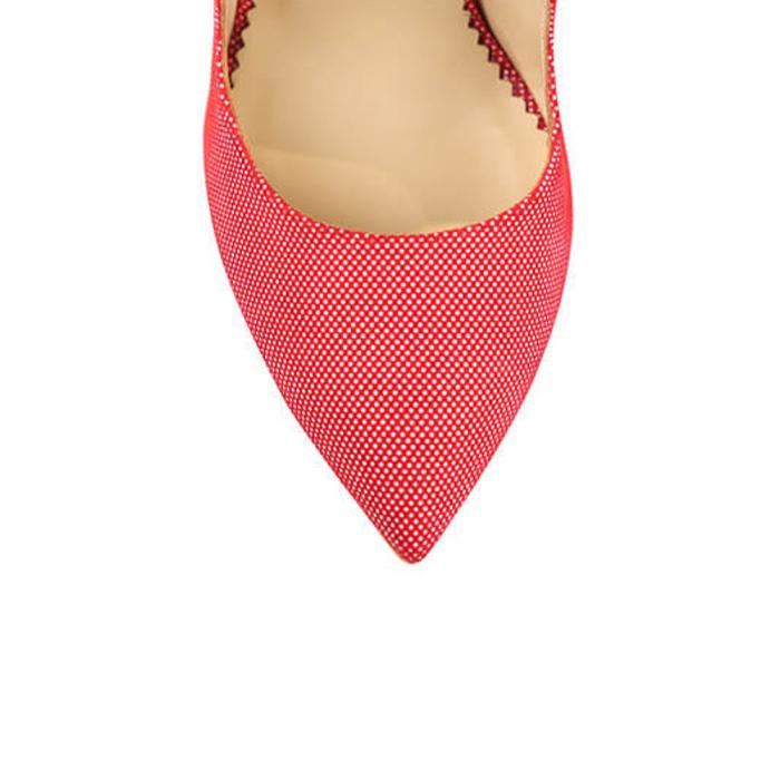 Pantofi Mihai Albu din piele Red Papillon Stealth 3