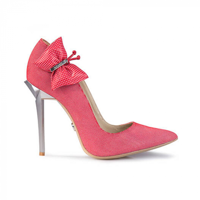 Pantofi Mihai Albu din piele Red Papillon Stealth 0
