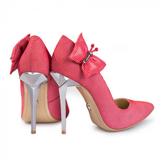 Pantofi Mihai Albu din piele Red Papillon Stealth 2