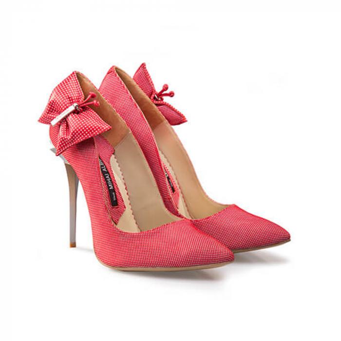 Pantofi Mihai Albu din piele Red Papillon Stealth 1