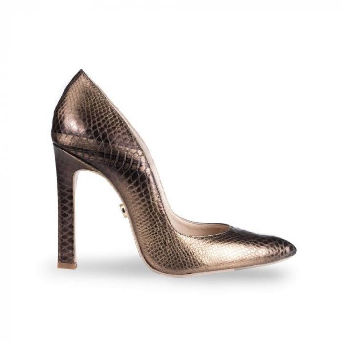 Pantofi Mihai Albu din piele texturata Bijou Equateur 0
