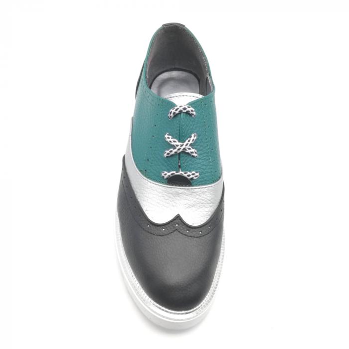 Pantofi in trei culori din piele naturala cu talpa joasa 3