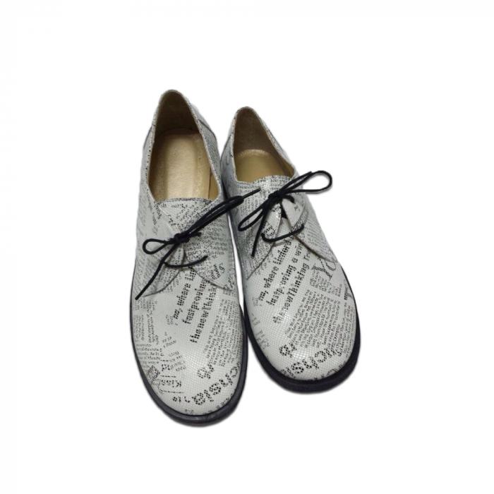 Pantofi din piele pentru femei Oxford Paper 0