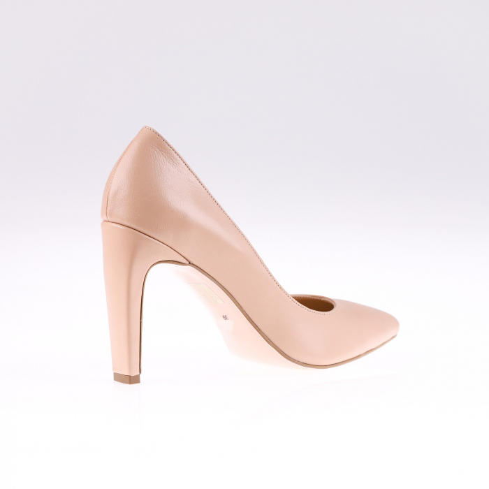 Pantofi stiletto din piele naturala Nude Box 2