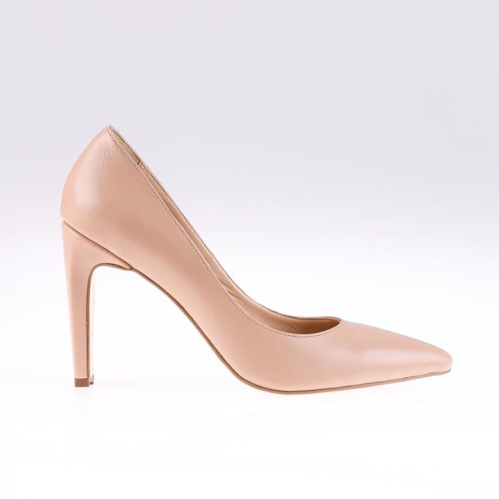 Pantofi stiletto din piele naturala Nude Box 0