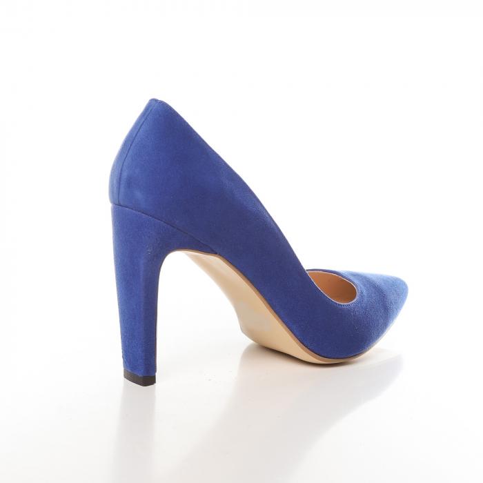 Pantofi stiletto albastri din piele intoarsa Briquette 2