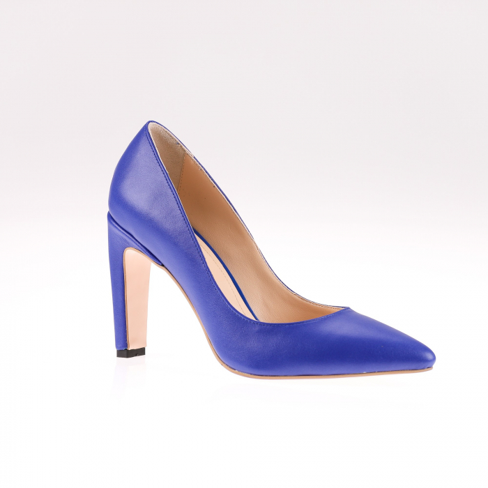 Pantofi stiletto din piele naturala Blue Box 2