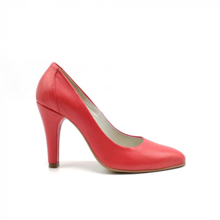 Pantofi stiletto din piele naturala Red Passion 0