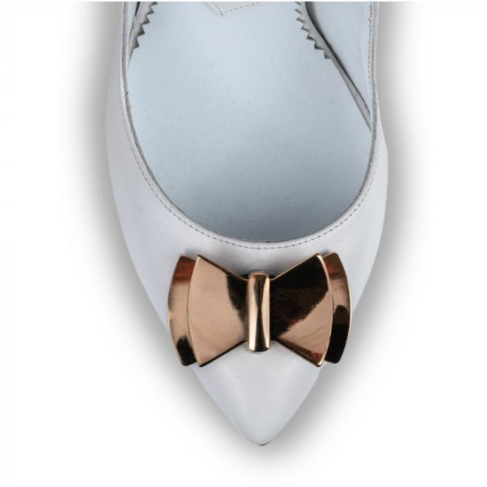 Pantofi stiletto Mihai Albu din piele alba Posh Bride [3]
