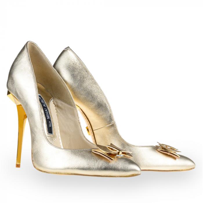 Pantofi stiletto Mihai Albu din piele Illegally Blonde [1]