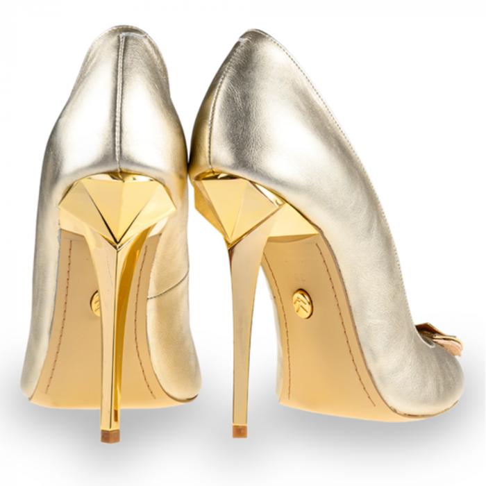 Pantofi stiletto Mihai Albu din piele Illegally Blonde [2]