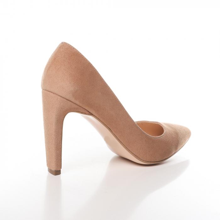 Pantofi stiletto nude din piele intoarsa Briquette [2]