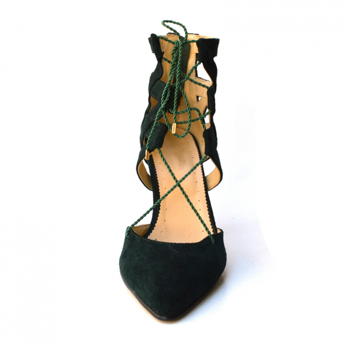 Botine dama decupate Green Velvet 3