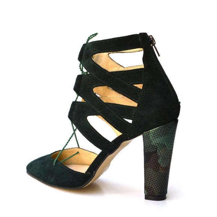 Botine dama decupate Green Velvet 4