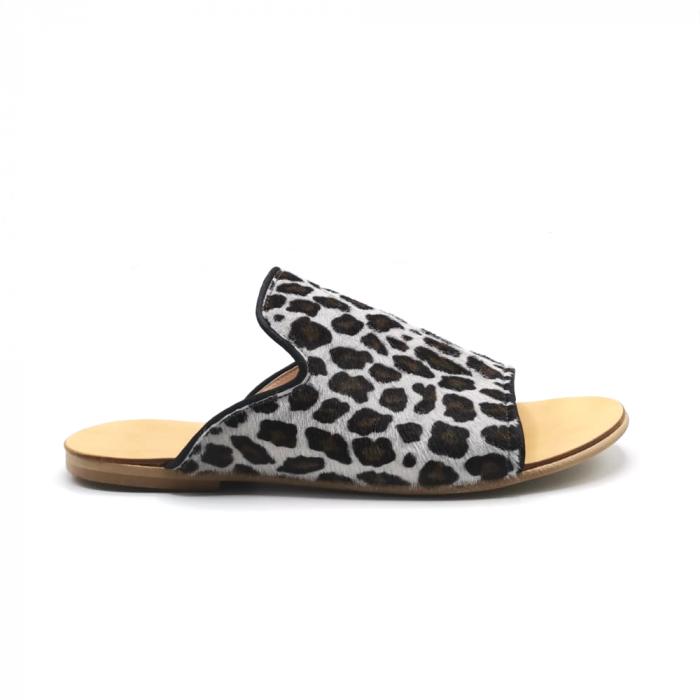 Papuci dama din piele de ponei Araya Animal Print [0]