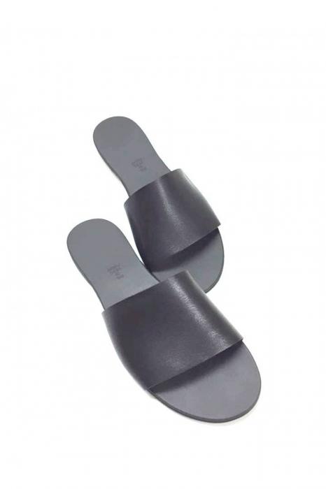 Papuci de dama din piele Black Elisa, 39 2
