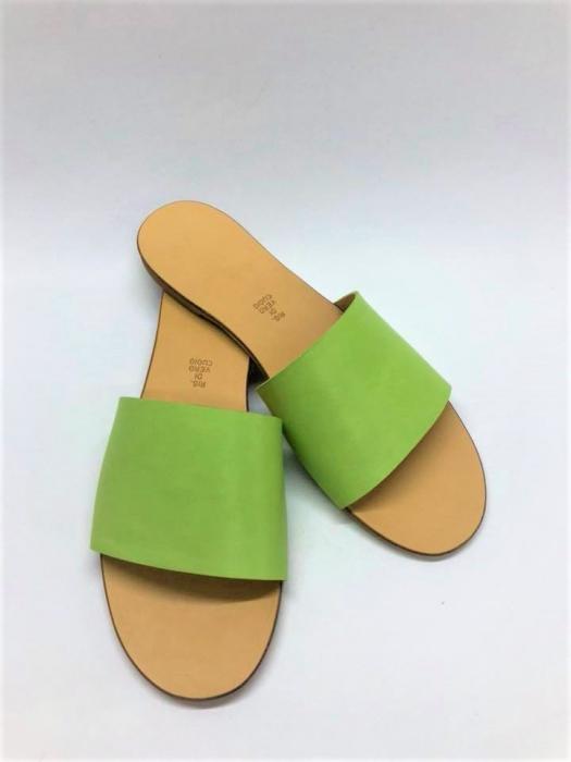 Papuci de dama din piele Elisa Green, 38 [0]