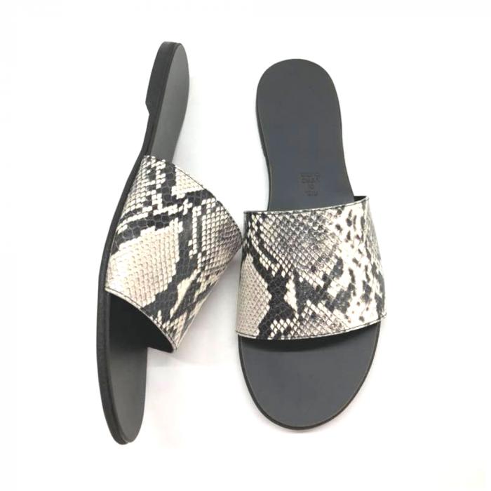 Papuci de dama din piele Elisa Snake Print [2]