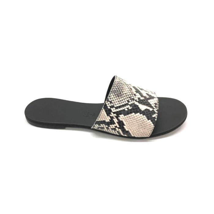 Papuci de dama din piele Elisa Snake Print [0]