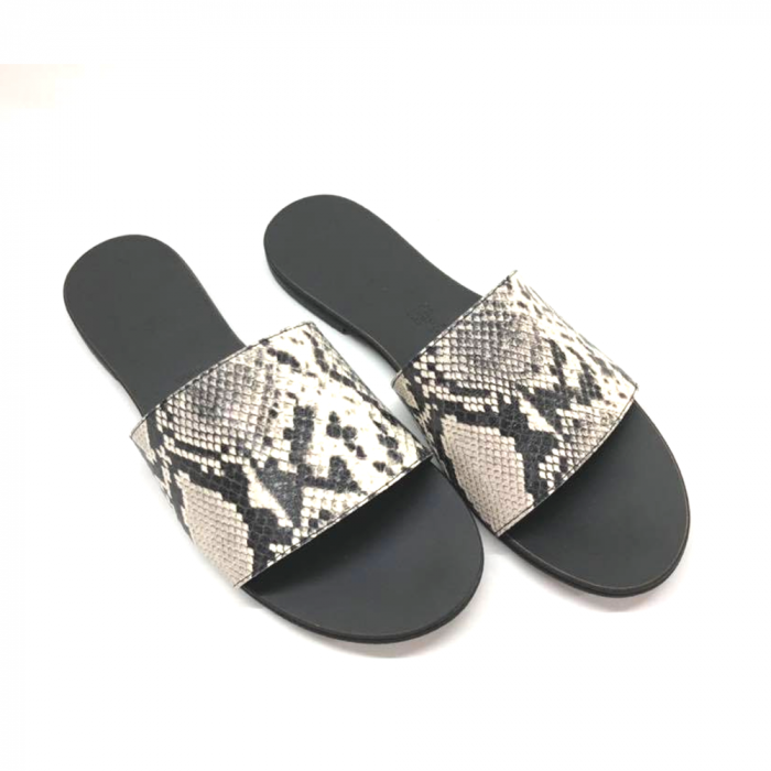 Papuci de dama din piele Elisa Snake Print [1]