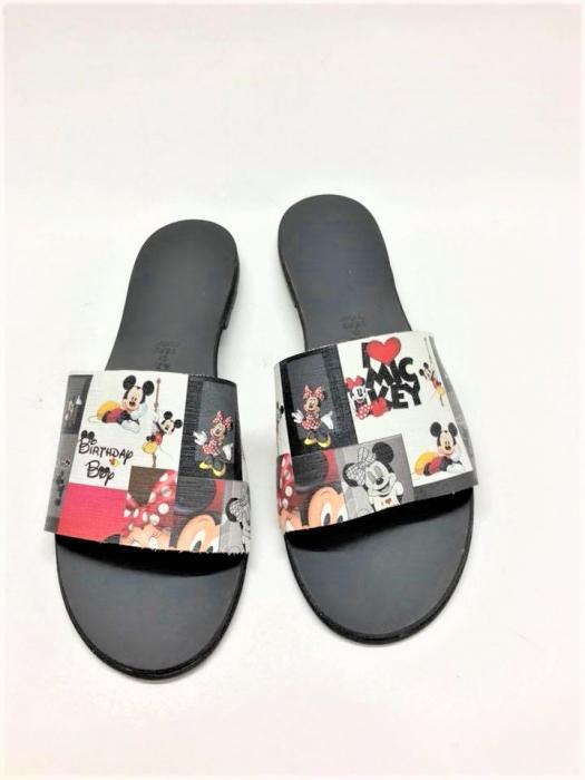 Papuci de dama din piele Elisa Disney World 0